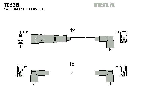 TESLA Bougiekabelset (T053B)