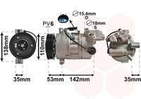 VAN WEZEL Compressor, airconditioning (0600K393)
