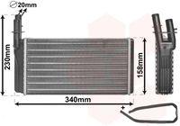 VAN WEZEL Kachelradiateur, interieurverwarming (73006074)