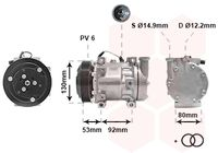 VAN WEZEL Compressor, airconditioning (0100K009)