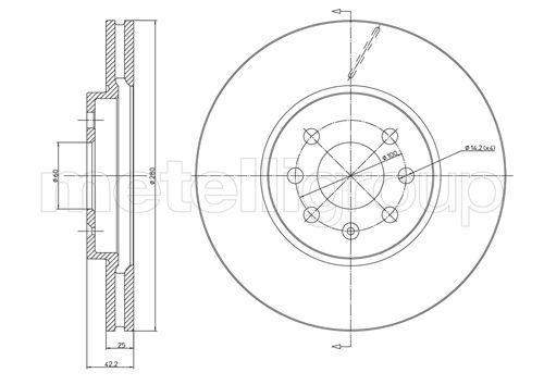 METELLI Hulpcilinder, koppeling (54-0005)