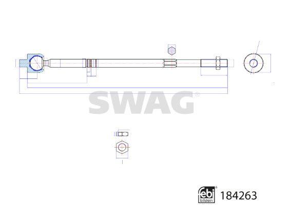 SWAG Stuurhoes, besturing (70 80 0001)