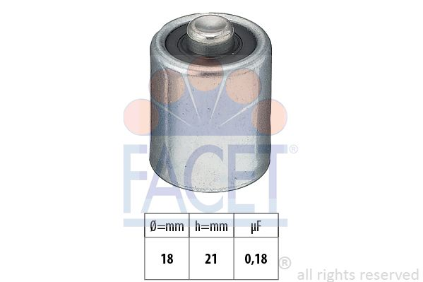 FACET Condensator, ontstekingssysteem Made in Italy - OE Equivalent (0.0130)