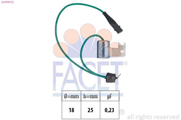 FACET Condensator, ontstekingssysteem Made in Italy - OE Equivalent (0.0179/112)