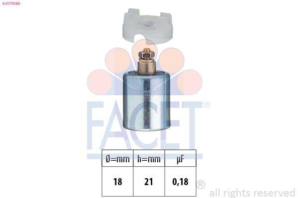 FACET Condensator, ontstekingssysteem Made in Italy - OE Equivalent (0.0179/80)
