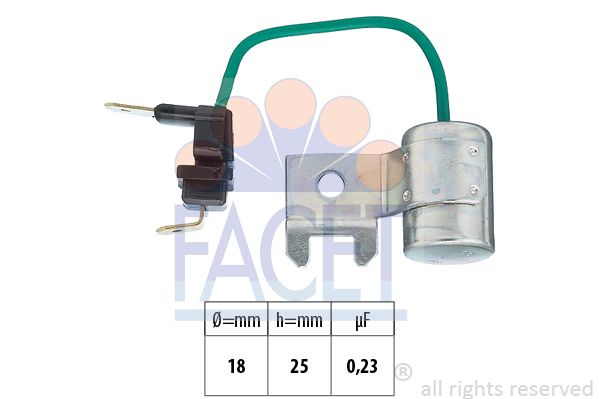 FACET Condensator, ontstekingssysteem Made in Italy - OE Equivalent (0.0179/95)