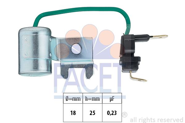 FACET Condensator, ontstekingssysteem Made in Italy - OE Equivalent (0.0179/96)