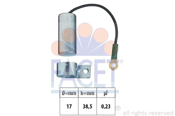 FACET Condensator, ontstekingssysteem Made in Italy - OE Equivalent (0.0323)