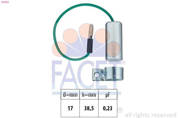 FACET Condensator, ontstekingssysteem Made in Italy - OE Equivalent (0.0334)