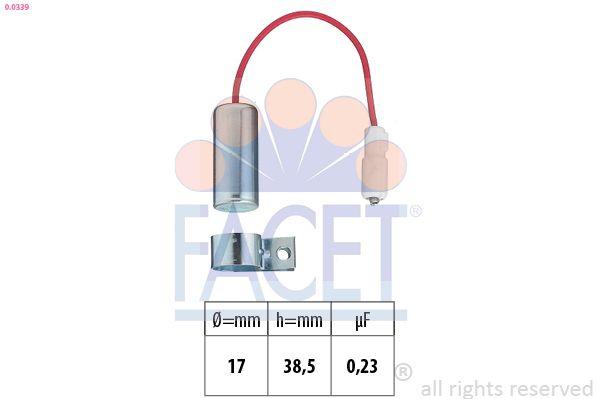 FACET Condensator, ontstekingssysteem Made in Italy - OE Equivalent (0.0339)