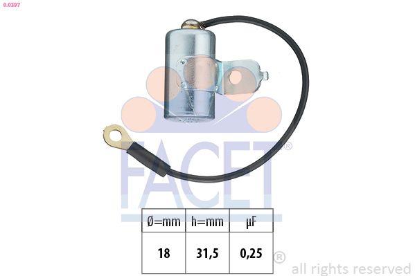 FACET Condensator, ontstekingssysteem Made in Italy - OE Equivalent (0.0397)