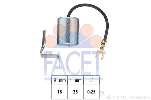 FACET Condensator, ontstekingssysteem Made in Italy - OE Equivalent (0.0594)
