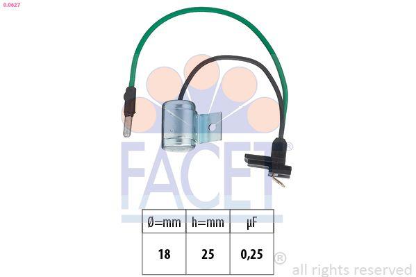 FACET Condensator, ontstekingssysteem Made in Italy - OE Equivalent (0.0617)