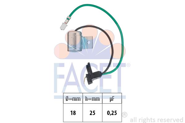 FACET Condensator, ontstekingssysteem Made in Italy - OE Equivalent (0.0627)