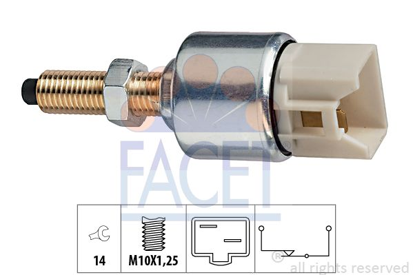 FACET Sensor, brandstoftemperatuur Made in Italy - OE Equivalent (7.3010)