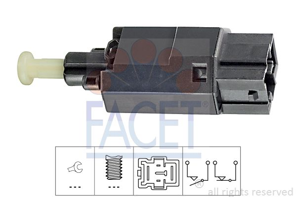 FACET Sensor, brandstoftemperatuur Made in Italy - OE Equivalent (7.3102)