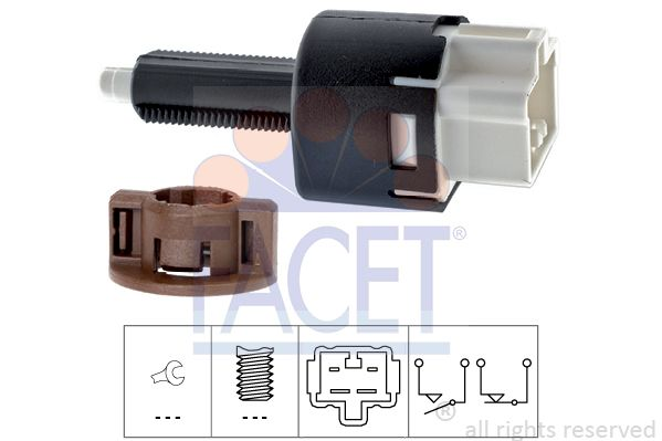 FACET Sensor, olietemperatuur Made in Italy - OE Equivalent (7.3129)