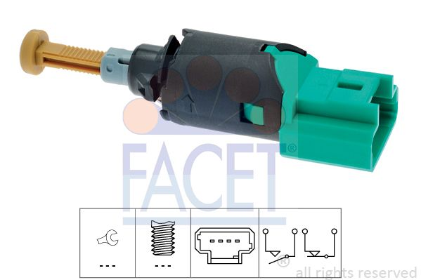 FACET Sensor, olietemperatuur Made in Italy - OE Equivalent (7.3177)
