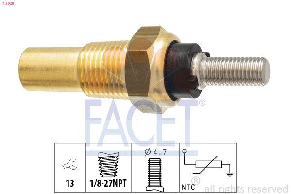 FACET Sensor, olietemperatuur Made in Italy - OE Equivalent (7.3300)