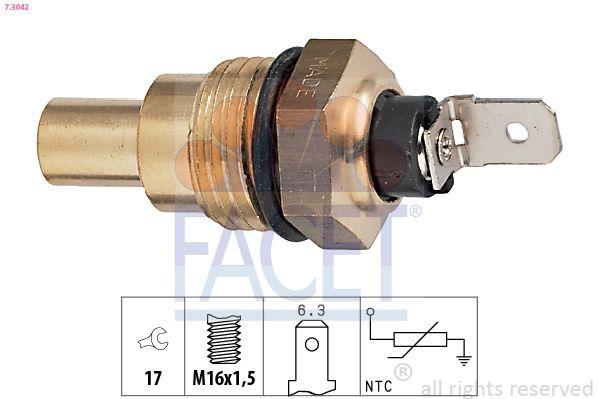 FACET Sensor, olietemperatuur Made in Italy - OE Equivalent (7.3306)