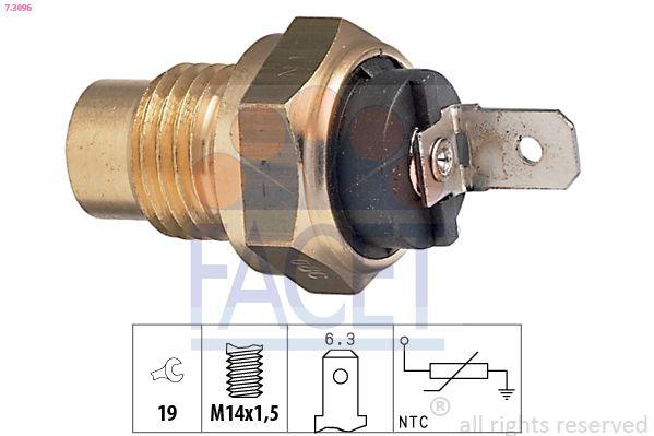 FACET Sensor, brandstoftemperatuur Made in Italy - OE Equivalent (7.3350)