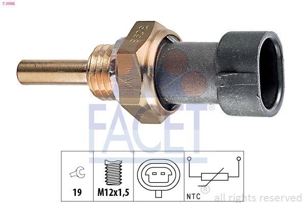 FACET Sensor, olietemperatuur Made in Italy - OE Equivalent (7.3351)