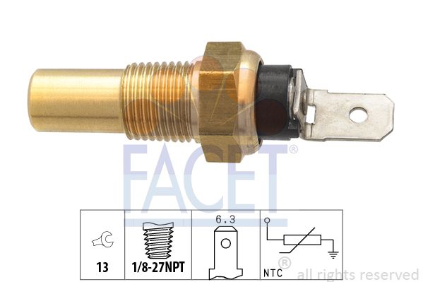 FACET Sensor, olietemperatuur Made in Italy - OE Equivalent (7.3358)