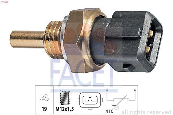 FACET Sensor, brandstoftemperatuur Made in Italy - OE Equivalent (7.3378)