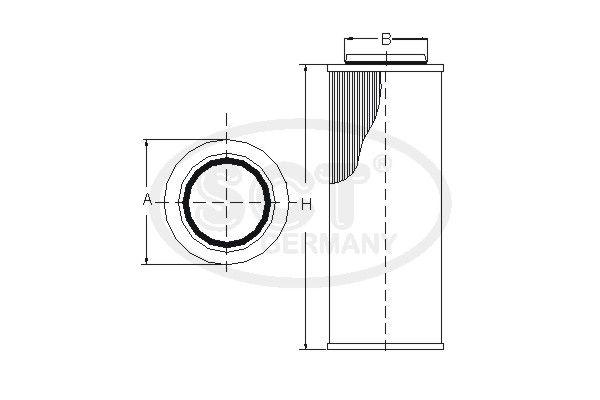 SCT - MANNOL Filter, hydrauliek (SH 4012)