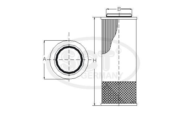 SCT - MANNOL Filter, hydrauliek (SH 4014)