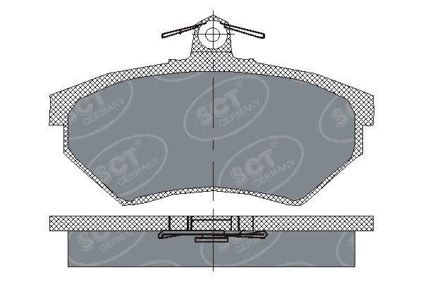 SCT - MANNOL Remblokkenset, schijfrem (SP 110 PR)