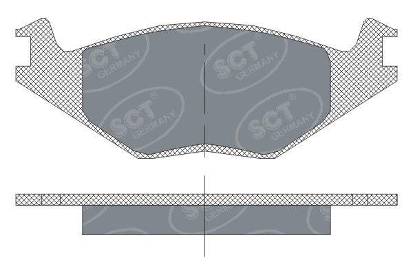 SCT - MANNOL Remblokkenset, schijfrem (SP 115 PR)