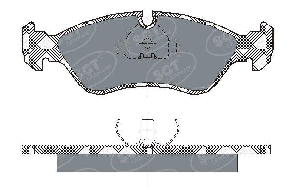 SCT - MANNOL Remblokkenset, schijfrem (SP 122 PR)