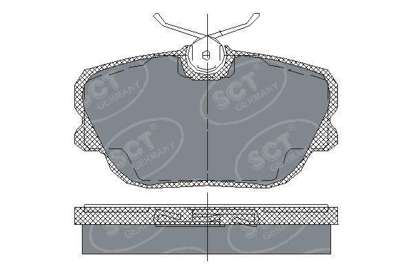 SCT - MANNOL Remblokkenset, schijfrem (SP 124 PR)
