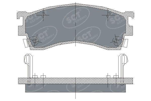 SCT - MANNOL Remblokkenset, schijfrem (SP 125 PR)