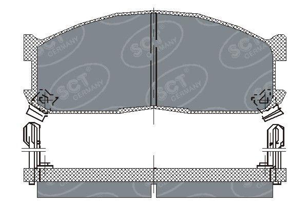 SCT - MANNOL Remblokkenset, schijfrem (SP 128 PR)
