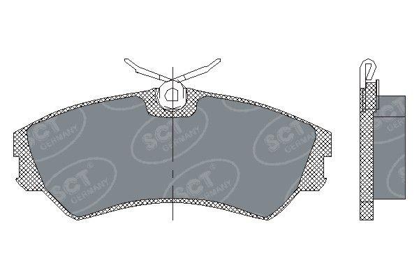 SCT - MANNOL Remblokkenset, schijfrem (SP 129 PR)