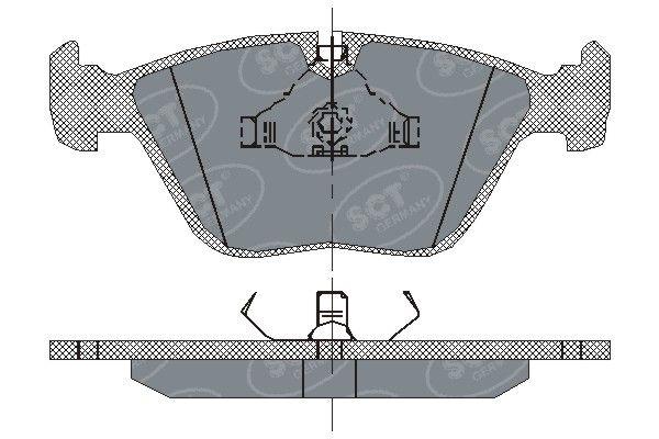 SCT - MANNOL Remblokkenset, schijfrem (SP 138 PR)