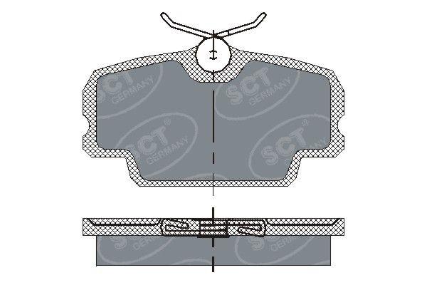 SCT - MANNOL Remblokkenset, schijfrem (SP 141 PR)
