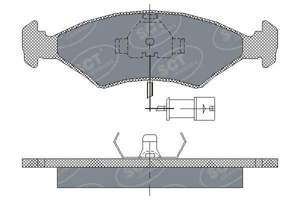 SCT - MANNOL Remblokkenset, schijfrem (SP 142 PR)