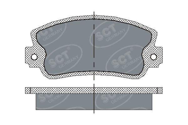 SCT - MANNOL Remblokkenset, schijfrem (SP 143 PR)