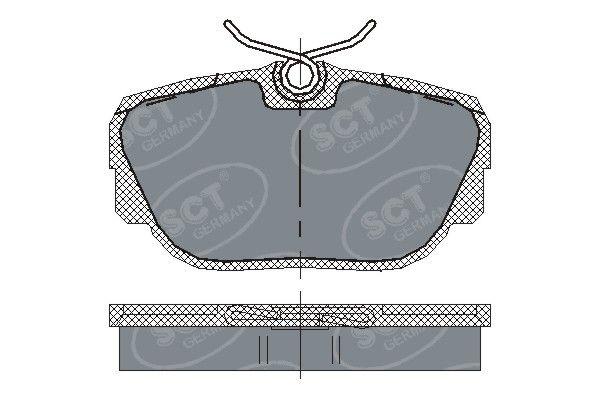 SCT - MANNOL Remblokkenset, schijfrem (SP 144 PR)