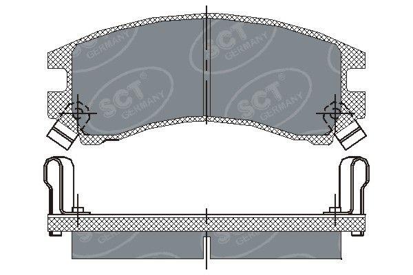 SCT - MANNOL Remblokkenset, schijfrem (SP 148 PR)