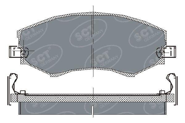 SCT - MANNOL Remblokkenset, schijfrem (SP 151 PR)