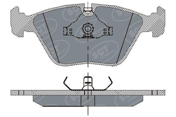 SCT - MANNOL Remblokkenset, schijfrem (SP 152 PR)