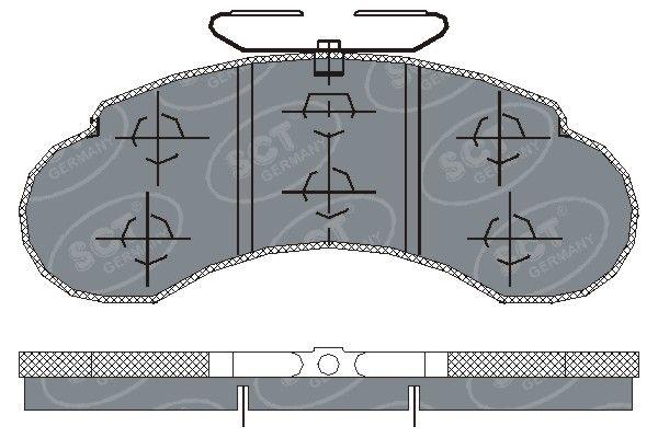SCT - MANNOL Remblokkenset, schijfrem (SP 155 PR)