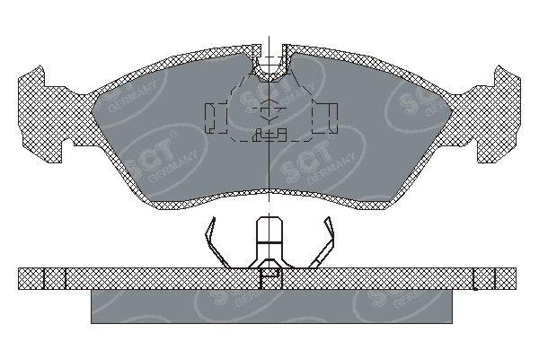 SCT - MANNOL Remblokkenset, schijfrem (SP 158 PR)