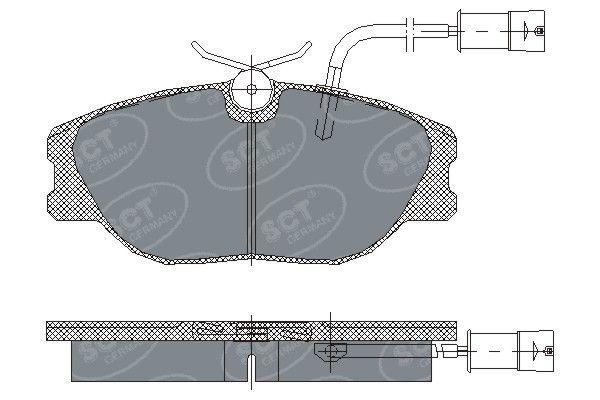 SCT - MANNOL Remblokkenset, schijfrem (SP 163 PR)