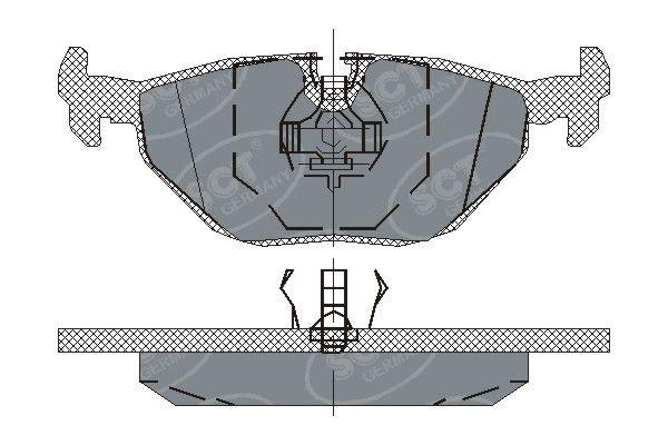 SCT - MANNOL Remblokkenset, schijfrem (SP 170 PR)
