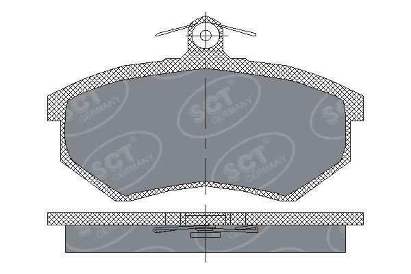 SCT - MANNOL Remblokkenset, schijfrem (SP 175 PR)